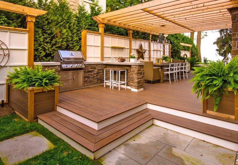 Multi Level Decks Deck With Pergola Patio Pergola