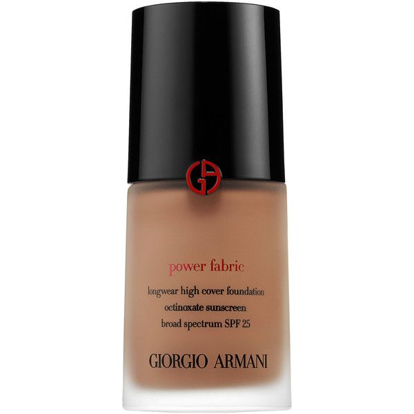 Giorgio Armani Beauty Power Fabric Longwear High Cover Foundation SPF... (645 MAD) ❤ liked on Polyvore featuring beauty products, makeup, face makeup, foundation, armani beauty, long wear foundation, spf foundation and long wearing foundation