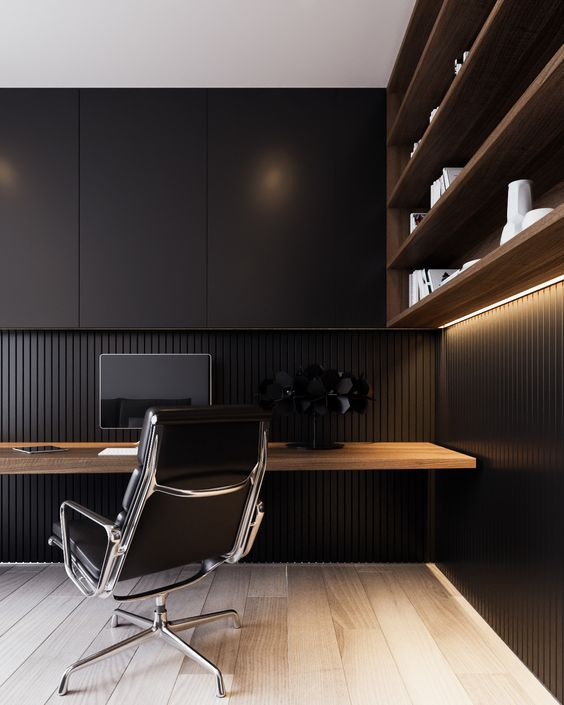 Black When Custom Built Ins Are In Matte There Is Negative E Gained Viewing An Interior Elevation