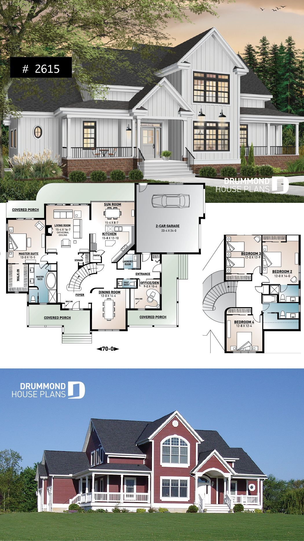 2 master suites house plan 4 bedrooms 4 bathrooms 2car garage large family