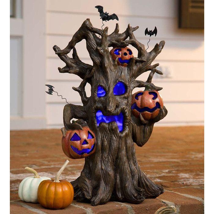 Lighted Spooky Tree Halloween Decoration  Reviews Joss  Main - halloween lighted decorations