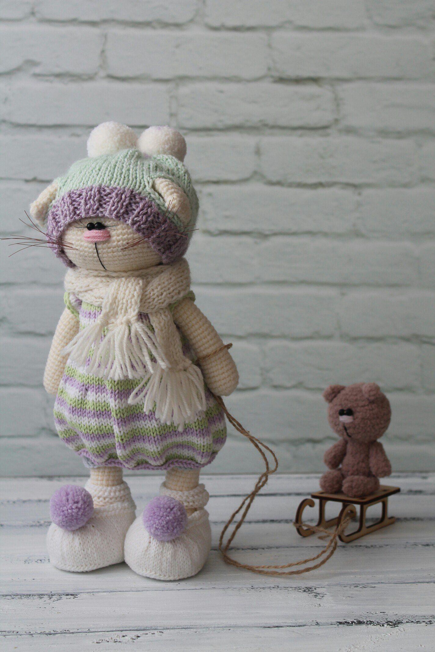 Вязаные игрушки by Isaeva Ekaterina | коти/собаки | Pinterest