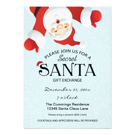 Secret Santa Holiday Party Invitation Click On Photo To Purchase. Check Out All Current Coupon