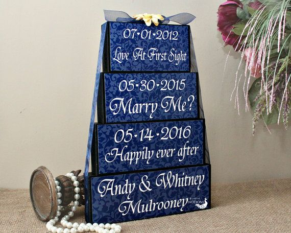 wedding important dates wood sign wedding gift personalised special dates sign bridal shower gift engagement gift idea reception decor