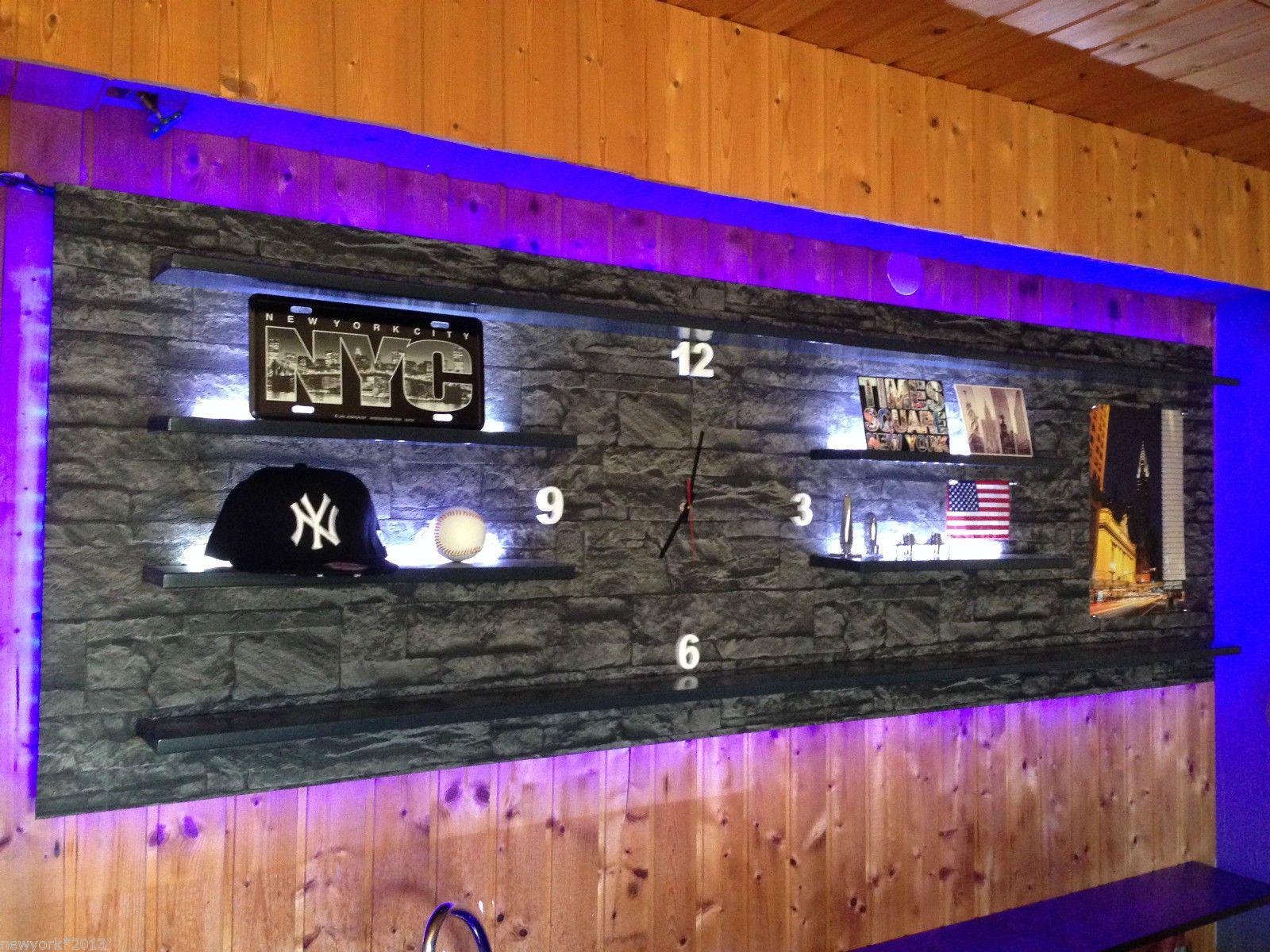 wandboard bar lounge theke partyraum led beleuchtet l nge x breite x dicke 220cm x 70cm x. Black Bedroom Furniture Sets. Home Design Ideas
