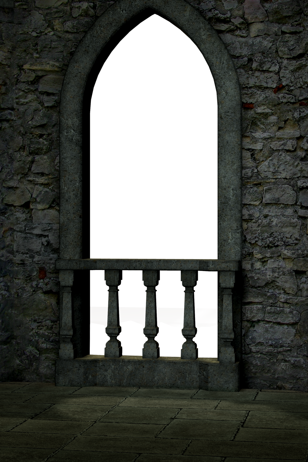Gothic Castle Balcony Render By Frozenstocks On DeviantArt