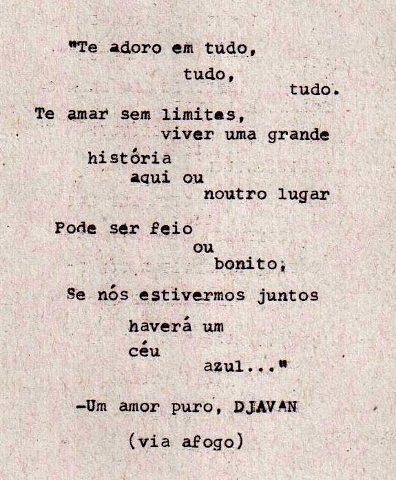 Fabuloso letras de djavan - Pesquisa Google | poesia | Pinterest | Djavan  WT68