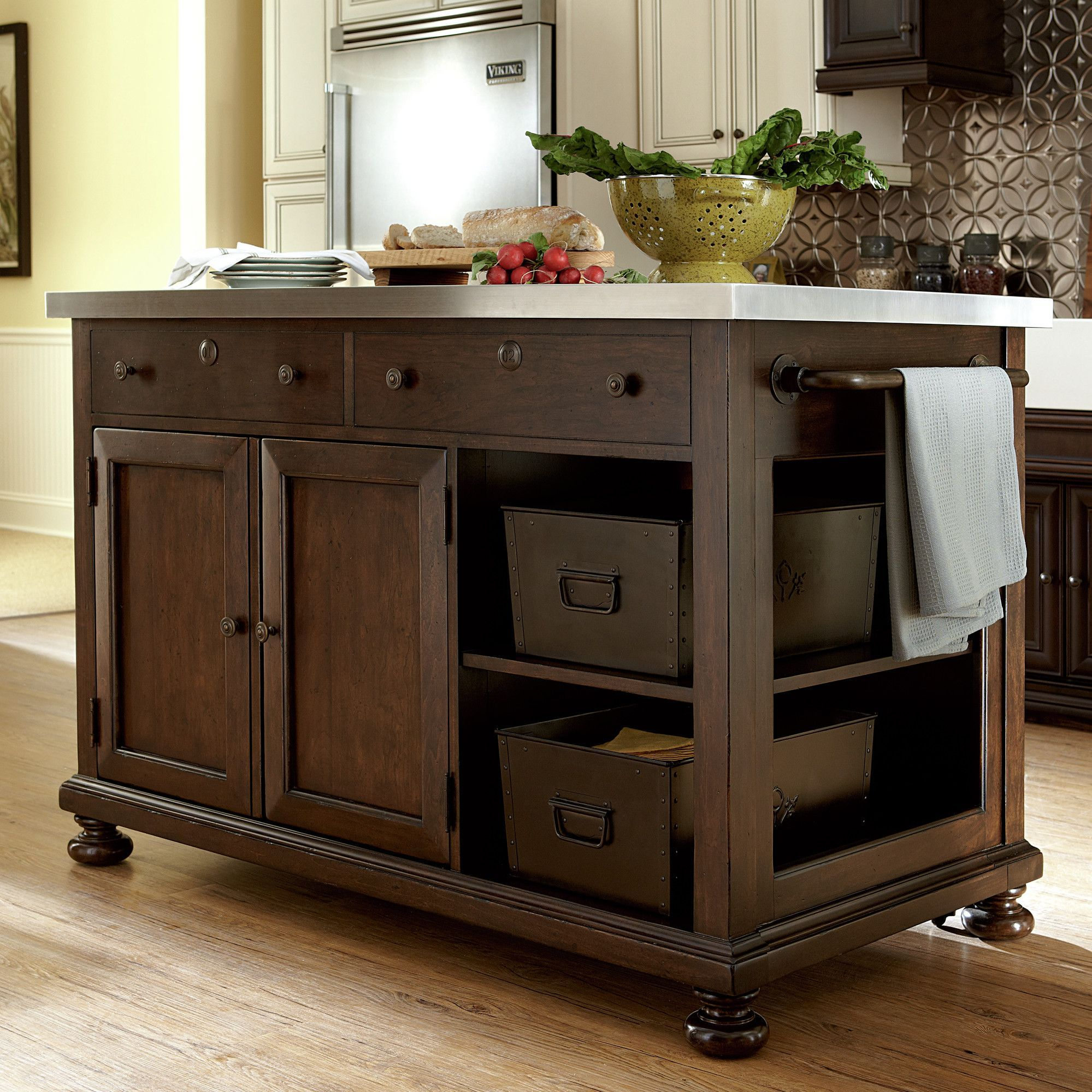Superieur Paula Deen Home River House Kitchen Island With Stainless Steel Top U0026  Reviews | Wayfair.ca