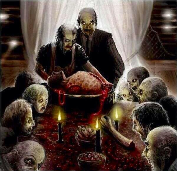 Zombie Thanksgiving Horror Art Horror Pictures Death Metal