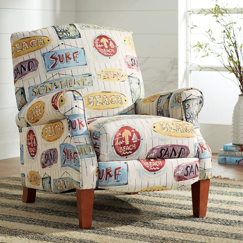 Sunshine Beach 3 Way Nautical Recliner Chair 67k55 Lamps Plus In 2020 Recliner Chair Coastal Chairs Beachy Theme