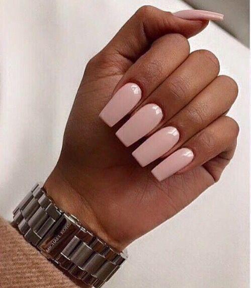 Beautyxobritt Square Acrylic Nails Soft Pink Nails Pink Nails