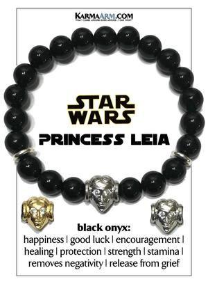 STAR WARS | Princess Leia | Black Onyx Bracelet