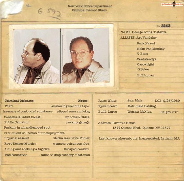 criminal record template