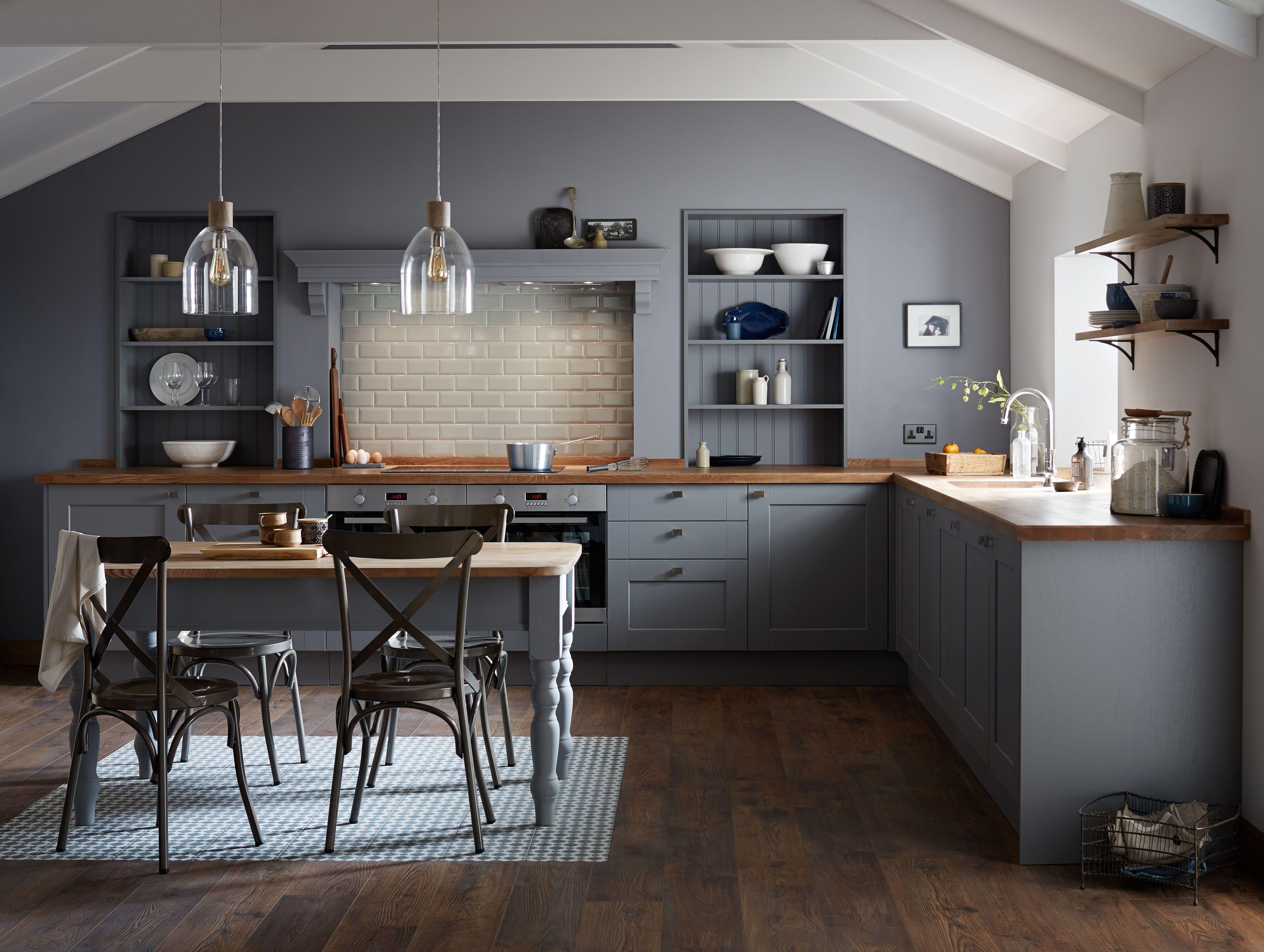 Kitchens Grey kitchen designs, Grey shaker kitchen