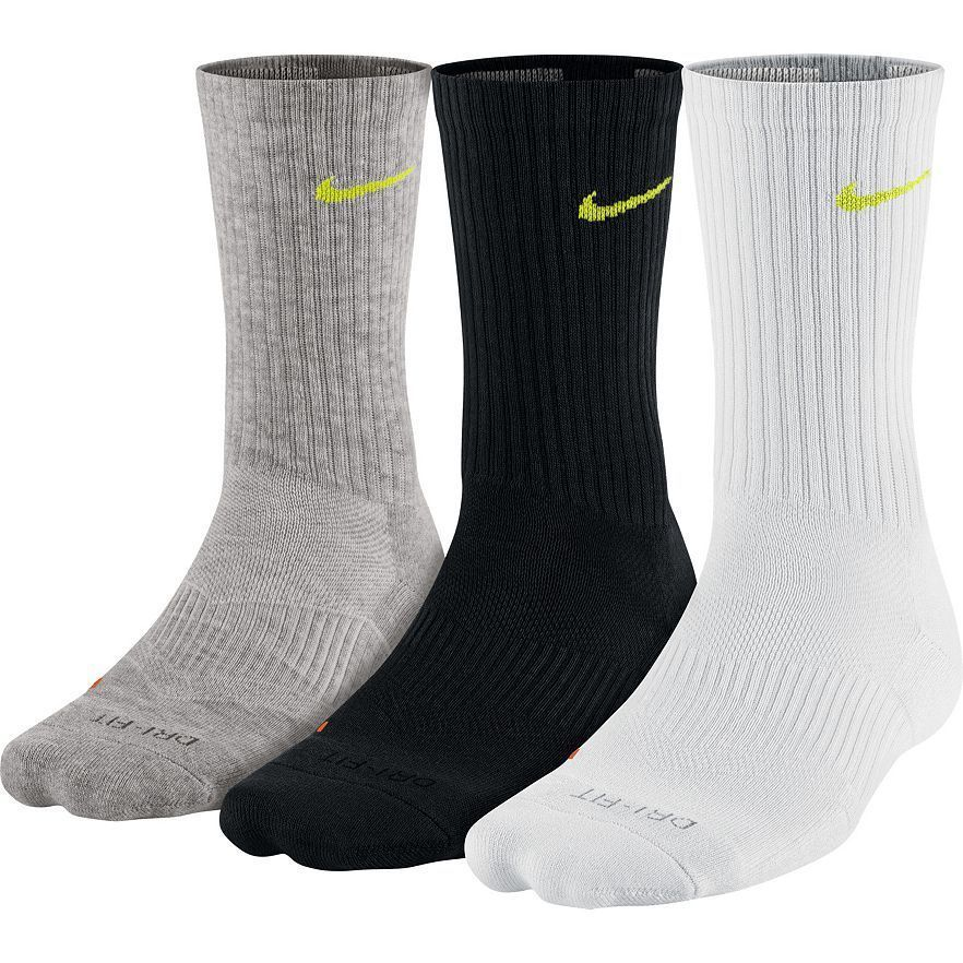 Details about nike mens dri fit cushioned crew socks 3