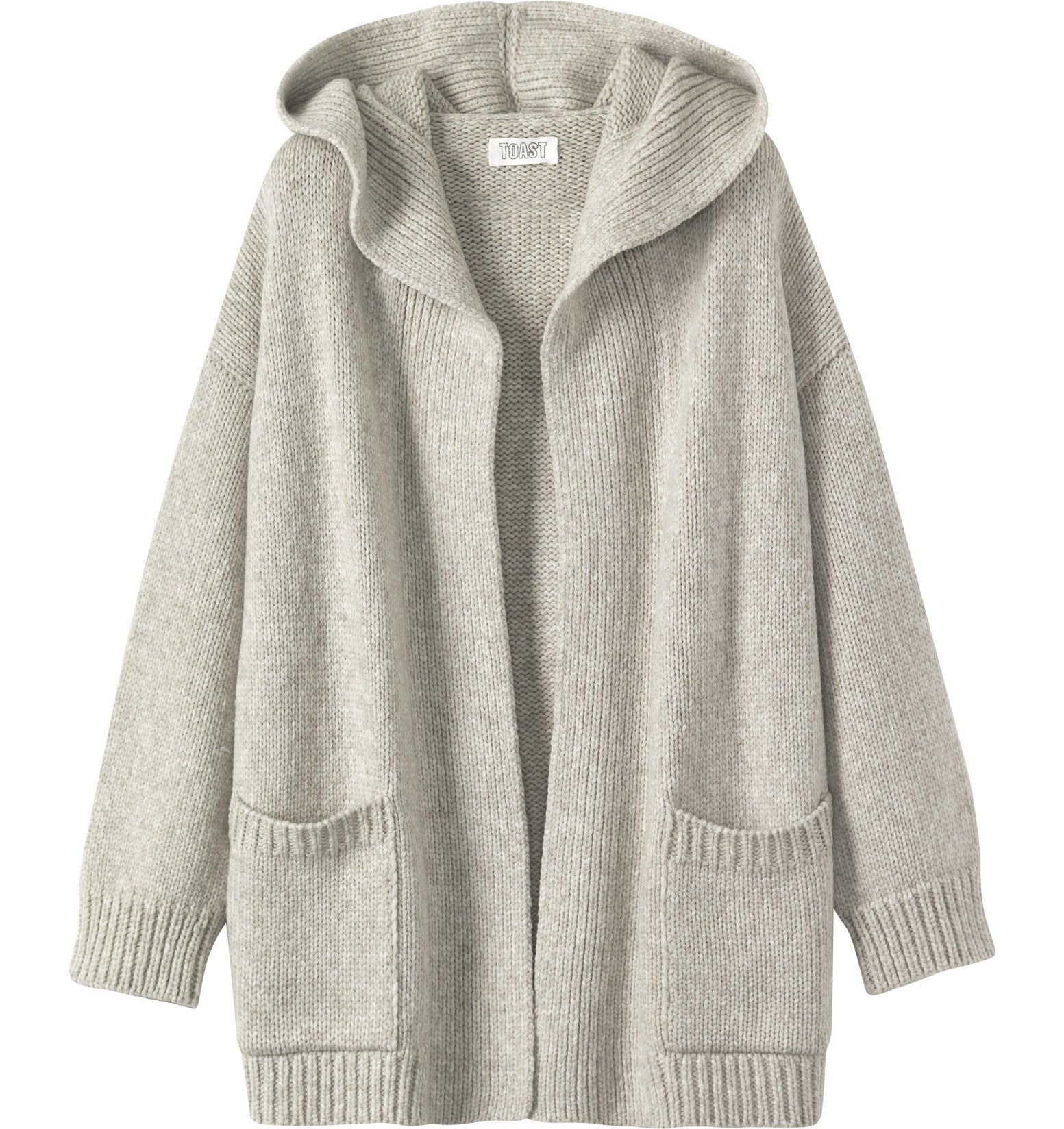 Warm, wrappy, hooded cardigan in a soft and weighty, Italian-spun ...