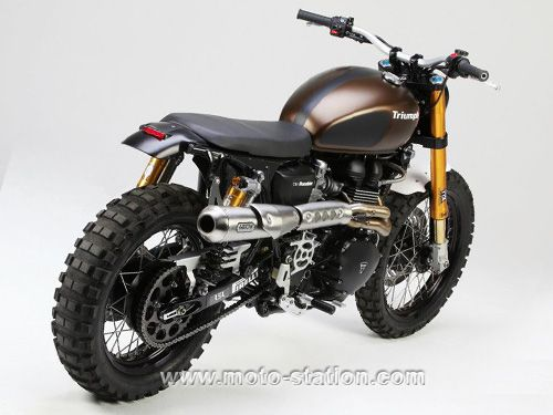 sp ciale triumph scrambler 900 rumbler par lsl triumph pinterest scrambler triumph moto. Black Bedroom Furniture Sets. Home Design Ideas