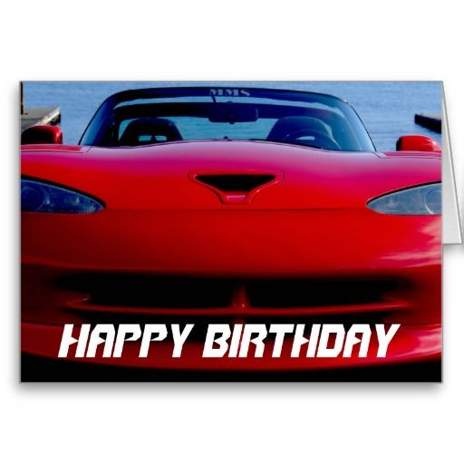 Red Muscle Car Birthday Card Zazzle Gifts Todays Best And