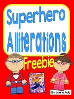 First Grade Spies: Superhero Alliterations FREEBIE!