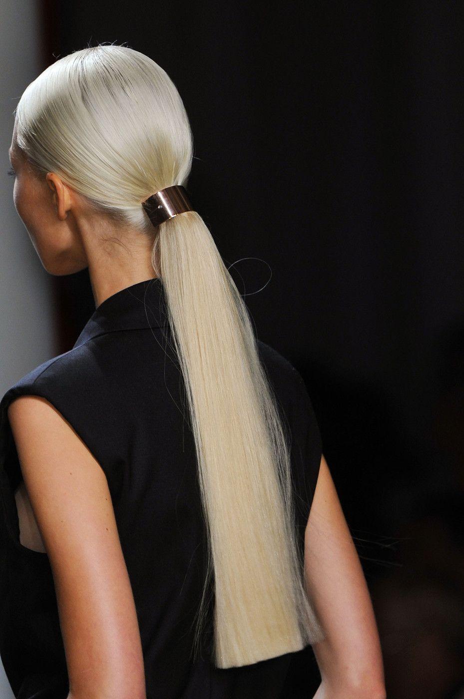 Runway hair for Jason Wu Spring/Summer 2014 RTW at New York Fashion Week.