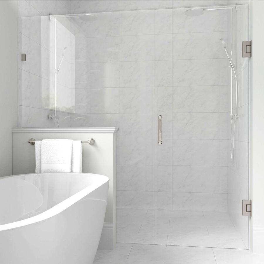 Futuro White 12x24 1 29 Per Square Foot White Porcelain Tile Shower Wall Tile White Bathroom Tiles