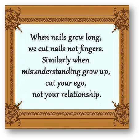 When nails grow long, we cut nails not fingers  Similarly