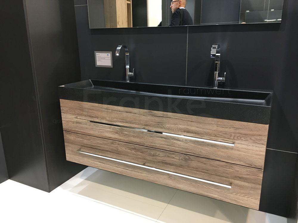 waschtischanlage komplett unterschrank mit zwei gro en schubladen mineralguss waschtisch und. Black Bedroom Furniture Sets. Home Design Ideas
