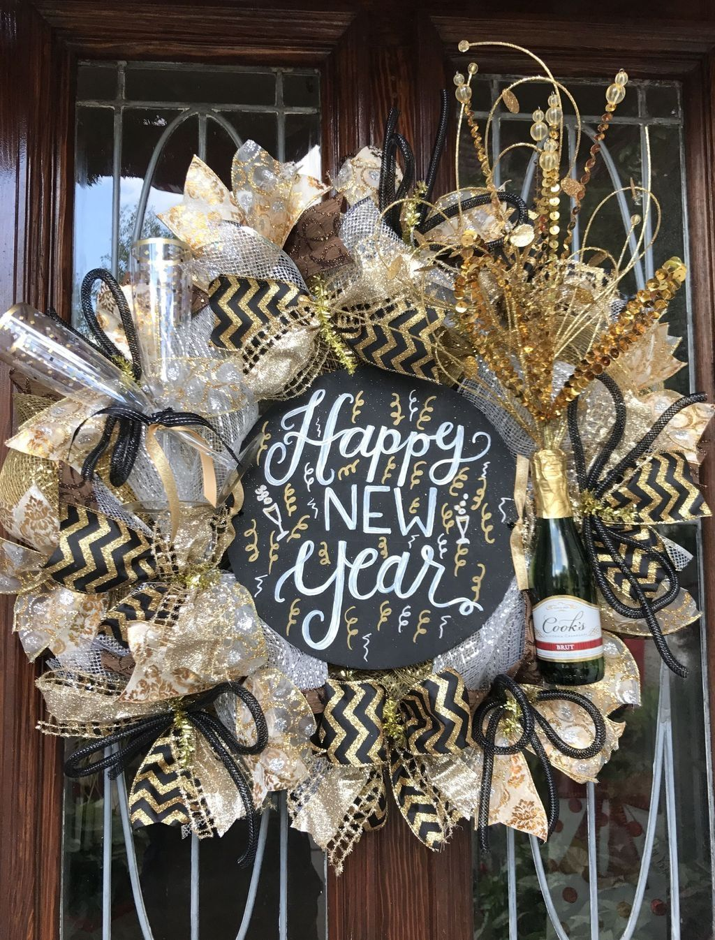 20+ Magnificent New Years Eve Wreath Ideas For Door ...
