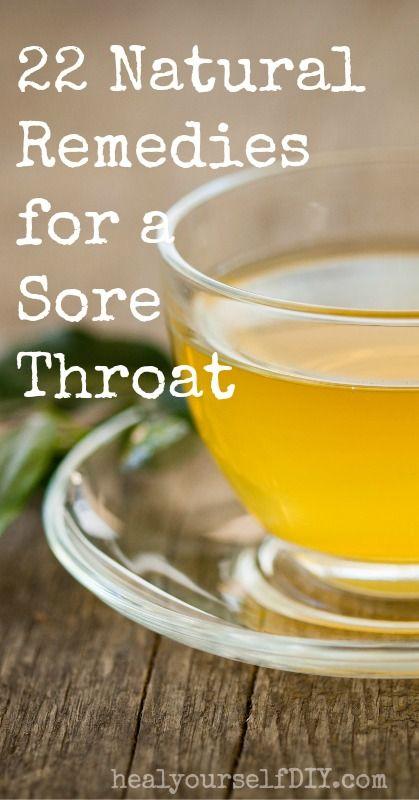 twenty two natural sore throat remedies