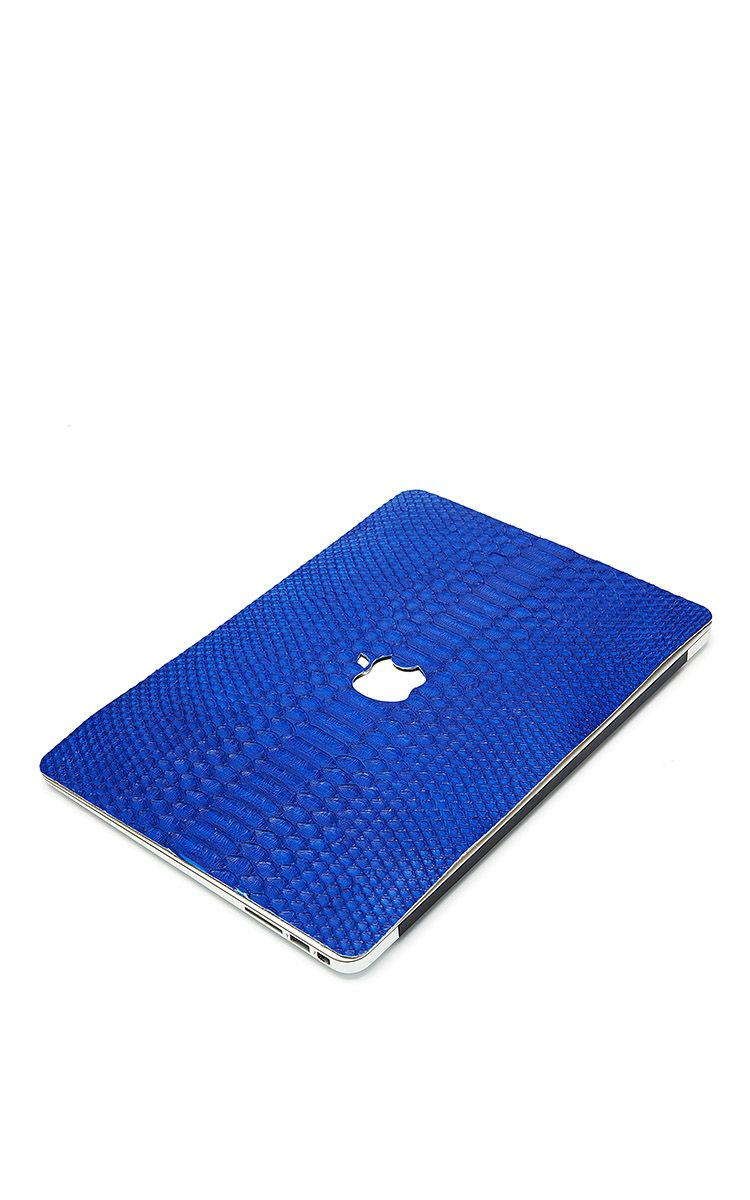 Cobalt Python 13In Macbook Air Leather Back Leather