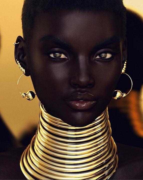 Model Shudu Gram erobert die Sozialen Medien mit ihrer Schönheit - aber etwas stimmt nicht mit ihr. #afrikanischefrauen