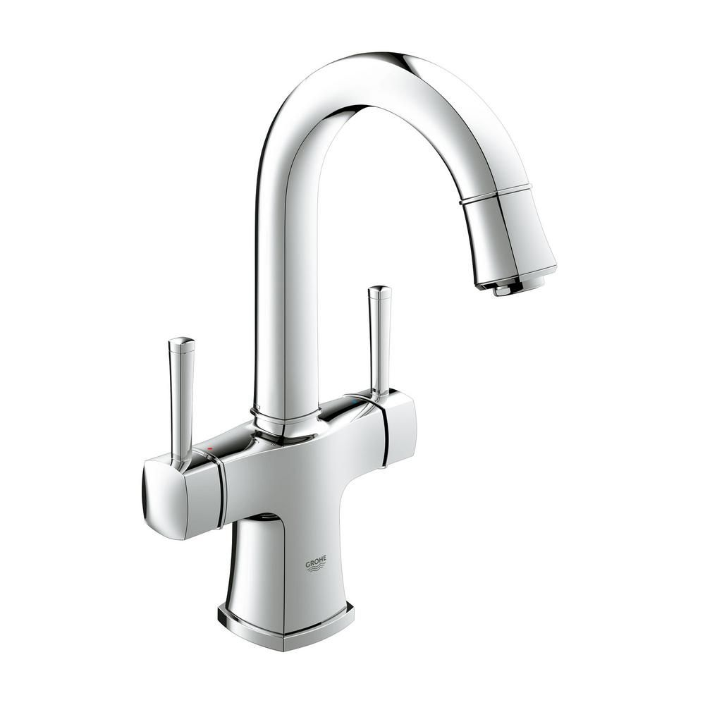 Grohe Grandera Single Hole 2 Handle 1 2 Gpm Bathroom Faucet With Handles In Starlight Chrome 2110800a The Home Depot Bathroom Faucets Bathroom Sink Faucets Single Hole Sink Faucets [ 1000 x 1000 Pixel ]