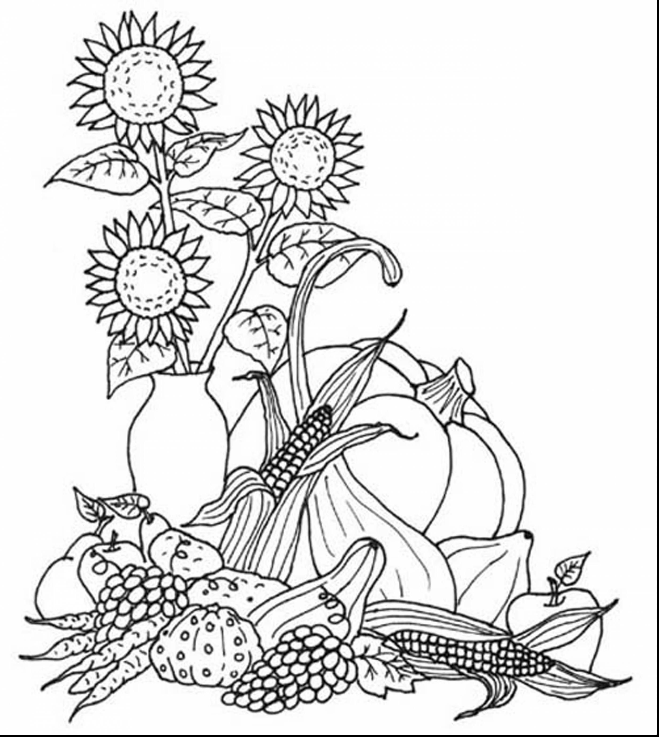 Fall Coloring Pages Free At Printable Capricus Me Best Of  Herbst