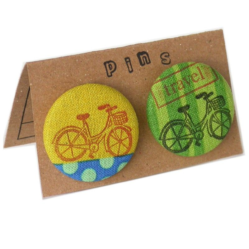 Bicycle Pin Buttons-laurabucci