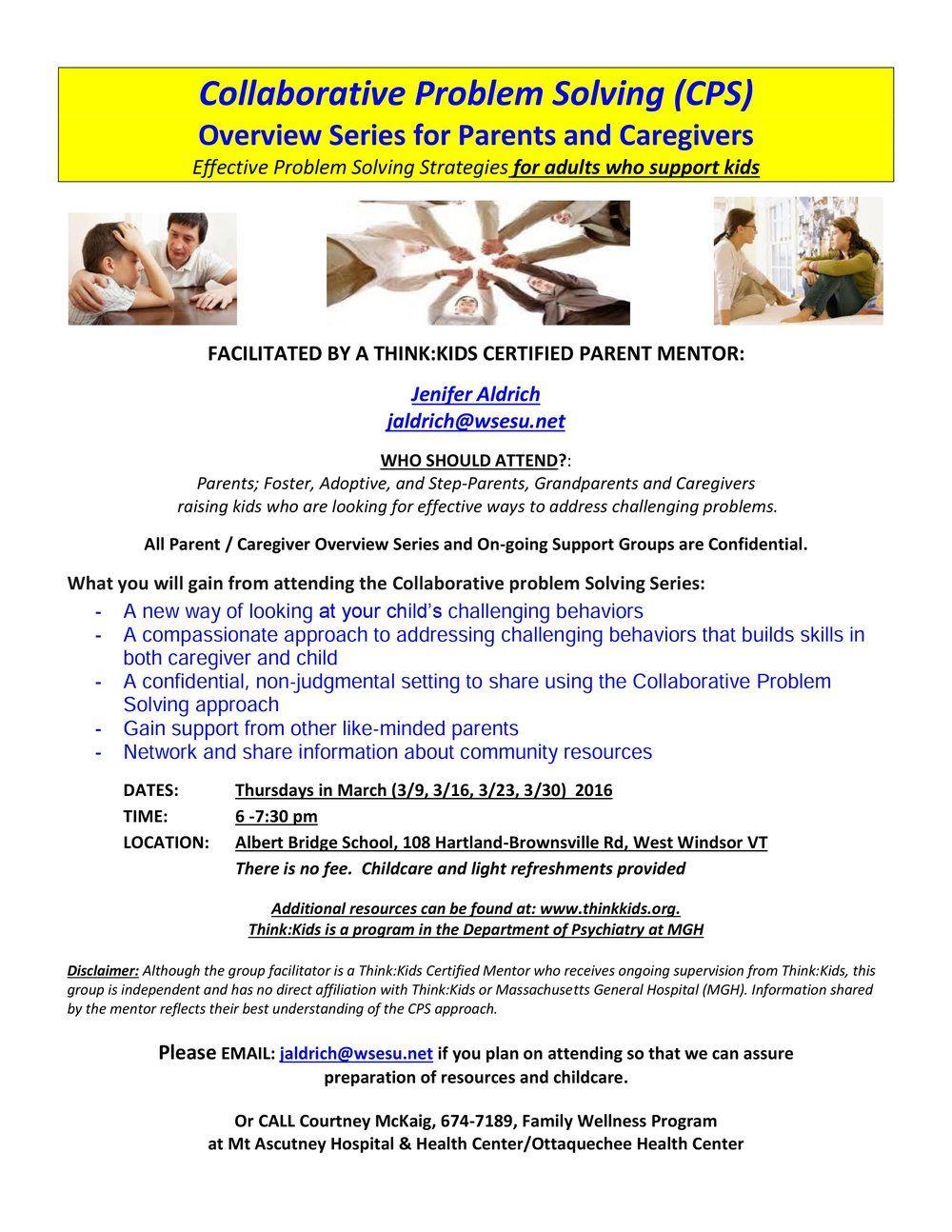 worksheet Collaborative Problem Solving Worksheet collaborative problem solving for parents and caregivers news caregivers