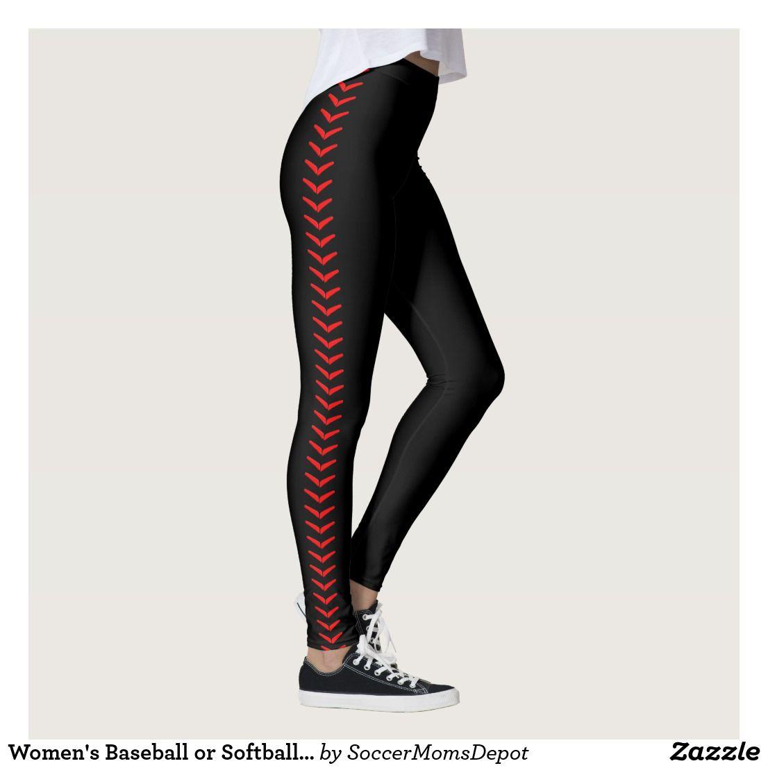 0b591d2367674 Women's Baseball or Softball Seam Black Pants   Zazzle.com   Women's ...