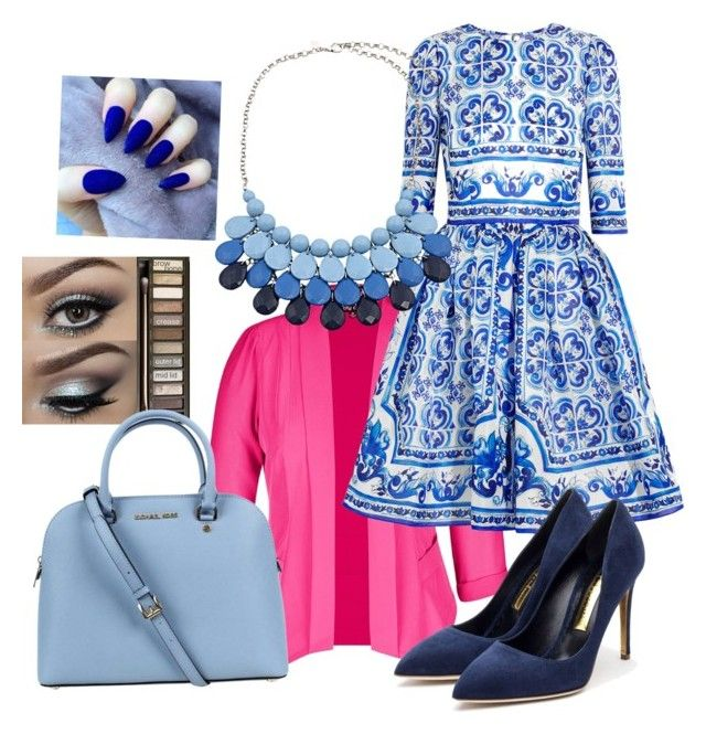 """Vintage Flirt"" by sabrina-covet-royal ❤ liked on Polyvore featuring City Chic, Dolce&Gabbana, Rupert Sanderson, Chicnova Fashion, Urban Decay, Michael Kors and vintage"