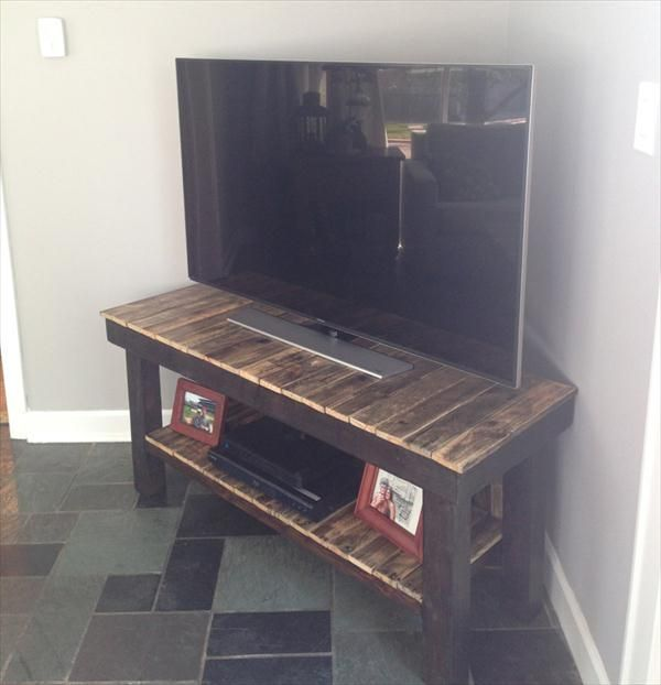 DIY Pallet TV Stand  Media #Console !!  Pallet Furniture DIY