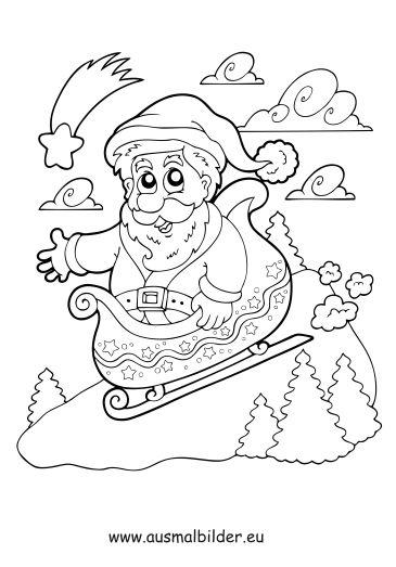 Weihnachten Malvorlagen Ausmalbilder Nikolaus Ausmalen Ausmalbilder