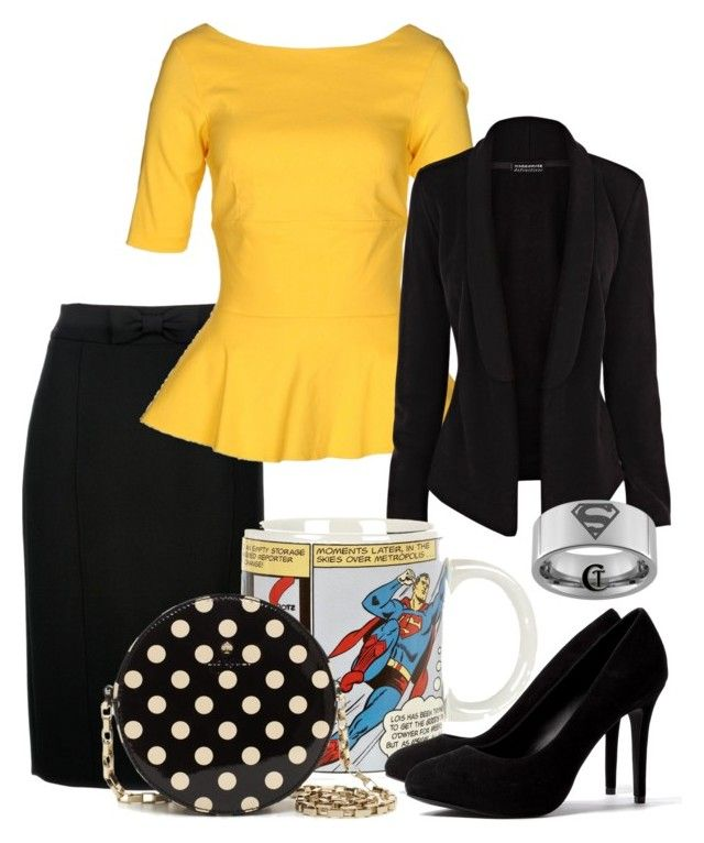 """""""Lois Lane"""" by andydrinkscoffee ❤ liked on Polyvore featuring Burberry, The Pretty Dress Company, Warehouse, River Island, Kate Spade, Ash, superman, lois lane and comics"""