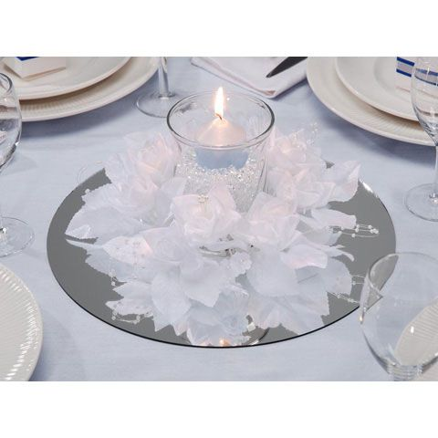 Victoria Lynn Wedding Bridal 12 Round Mirror Mirror Wedding Centerpieces Glass Centerpieces Mirror Centerpiece