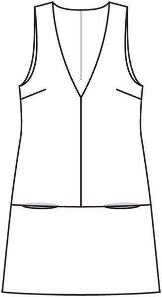 Сарафан А-силуэта - выкройка № 105 из журнала 9/2012 Burda – выкройки сарафанов на Burdastyle.ru #schnittmusterzumkleidernähen