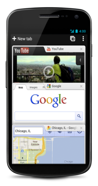 Google releases Chrome app for Android Ice Cream Sandwich