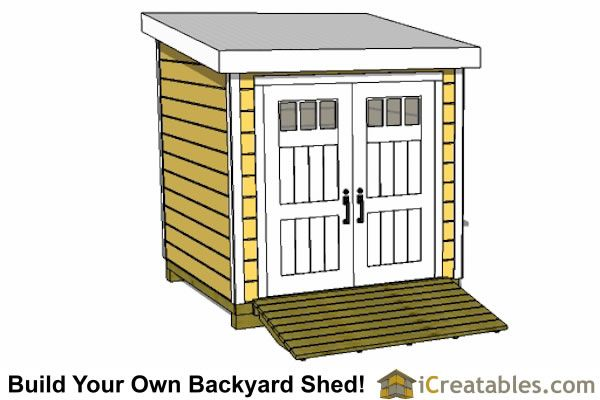 8x8 lean to shed plans front - Garden Sheds 8x8
