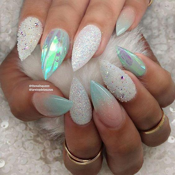 60 Mermaid Acrylic Nails On Trend This Year #49 | Mermaid nails ...