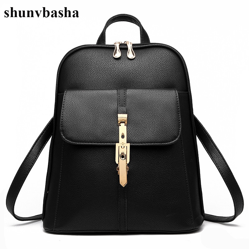 21.19$  Buy now - 2017 High Quality Women Backpacks Famous Brands Fashion Lady Leather Backpack School Backpacks For Teenage Girls Design Mochila  #SHOPPING