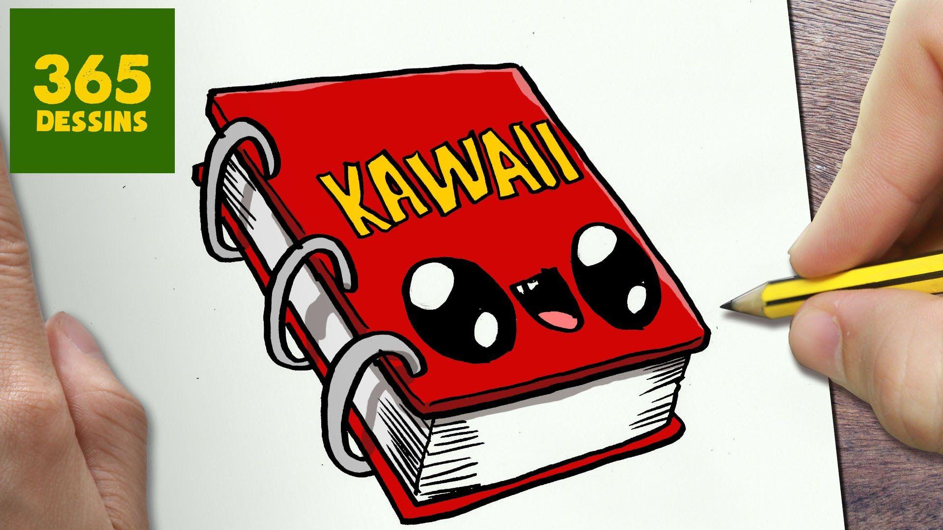Comment Dessiner Cahier Kawaii étape Par étape Dessins