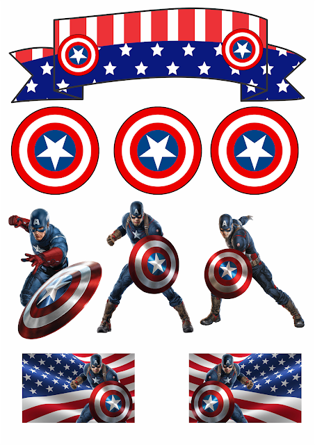 captain america free printable cake and cupcake toppers captain america printables captain america cake captain america party free printable cake and cupcake toppers