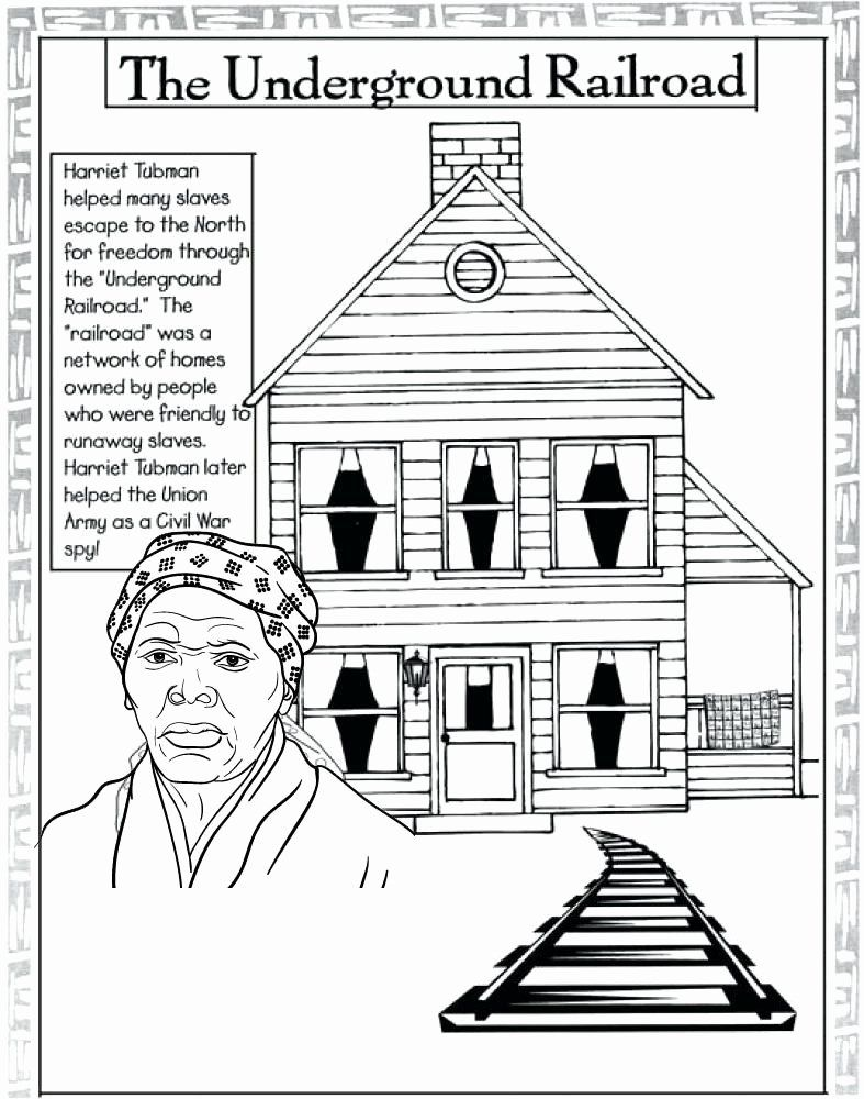 Harriet Tubman Coloring Page Elegant Harriet Tubman Underground Railroad Coloring Page Harriet Tubman Harriet Tubman Underground Railroad Coloring Pages