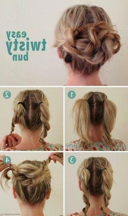 Photo Of Quick And Easy Updos For Long Thin Hair Short Hair Styles Easy Short Hair Updo Medium Hair Styles
